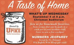 """Handout for a """"Taste of Home"""" event hosted by UPIKE"""