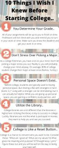 First five things to know before starting college
